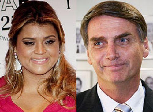 Singer Preta Gil and Federal Deputy Jair Bolsonaro