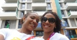 Athletes Keila Costa and Aline Leone