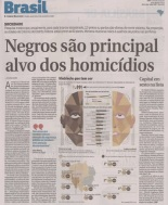 From 2002-2010, 272,422 Afro-Brazilians murdered: Numbers equal to a country at war - Rates rise for blacks while falling for whites
