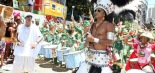 Oscar-nominated musician Carlinhos Brown leads the Afródromo Carnaval Procession to bring more racial diversity to Salvador's segregated Carnaval