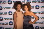 Actress Sheron Menezzes with Angolan actress/reporter Érica Chissapa