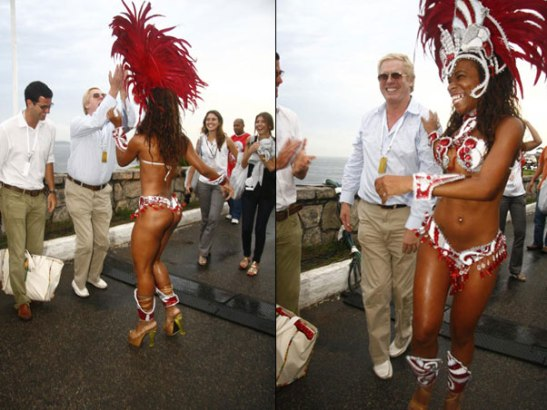 Englishman Robert Forrest and Samba School dancer Daniele Régis