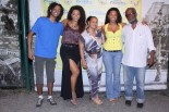 Juliana with family: siblings Mayra Alves and Luan Thambo and parents Fatima and Sebastião Antonio