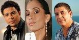Former soccer star Ronaldo, actress Camila Pitanga, singer Zeca Pagodinho