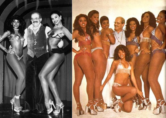 "Osvaldo Sargentelli, the ""mulatólogo (mulatagist)"" and some of his ""mulata"" showgirls"