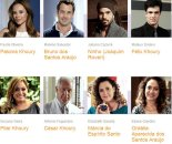 """Eight of the actors and the characters they portray on the novela, """"Amor à Vida"""""""