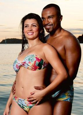 Singer Alexandre Pires and wife Sara Campos