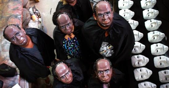 Barbosa masks were very popular during Brazil's 2013 Carnaval