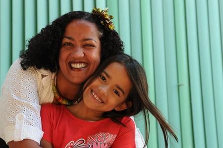 Daniela Luciana Silva and daughter Maria