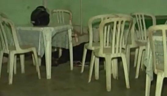 Crime scene where Cecílio Sousa Santos was killed