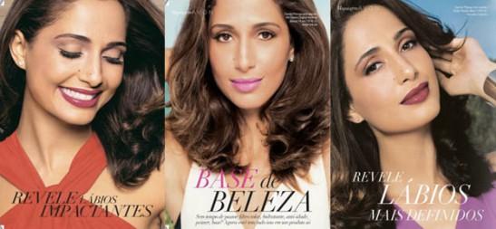 Actress Camila Pitanga in an ad for Avon