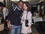 Pagode singer/songwriter Thiaguinho (Thiago André Barbosa) and girlfriend, actress Fernanda Souza