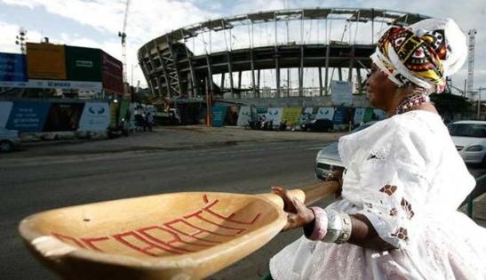 FIFA rule threatens sell of acarajé and could rule that baianas could only sell the fritters 1.25 miles (2 kilometers) from the stadium