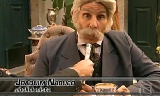 Actor portrays 19th century abolitionist Joaquim Nabuco