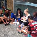 Canadian woman gives classes to Rio's homeless