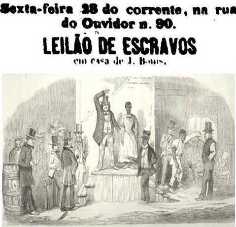 Leilão de escravos - Slave auction