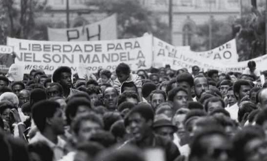 "Sign: ""Freedom for Nelson Mandela"""