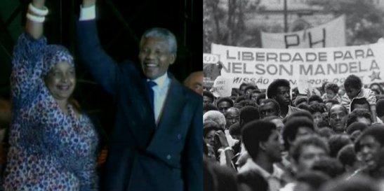 Nelson and Winnie Mandela in Brazil in 1991
