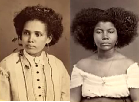 Two women in photo taken in Recife, Pernambuco in 1869