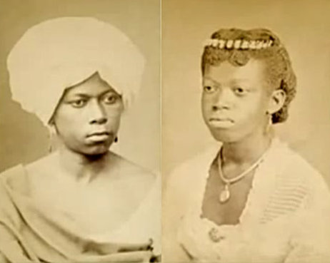 Photo of two women in Rio de Janeiro in 1870