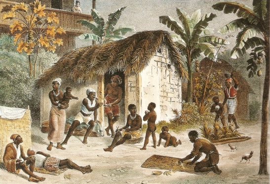 Senzala or slave quarters