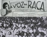 "The ""A Voz da Raça"" (Voice of the Race) newspaper of the Frente Negra Brasileira: ""Prejudice of color in Brazil; only we blacks can feel"" (top) 1930s Frente Negra Brasileira meeting (bottom)"