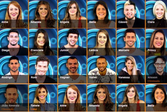 The cast of Big Brother Brasil 14 on the Globo TV network