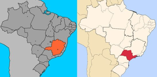 The states of Minas Gerais (orange) and São Paulo (red) had the largest memberships of the FNB