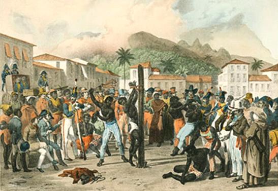 Pelourinho in Salvador, Bahia. The public whipping of a slave