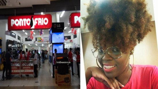 Ponto Frio store and Thayná Trindade