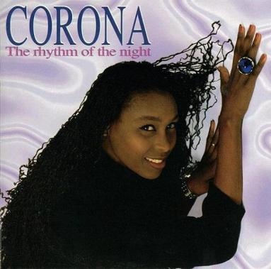 """Cover photo of Corona's 90s hit """"The Rhythm Of The Night"""""""