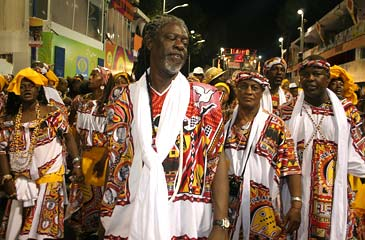 Vovô president of the Ilê Aiyê, perhaps the most important symbol of black culture and pride in Bahia