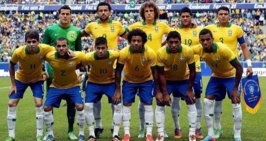 """Brazil's 2014 National Team, known as the """"Seleção"""""""