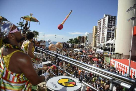 Salvador – The bloco Olodum performs on the streets of the Pelourinho - Roosewelt Pinheiro/Agência Brasil Archive