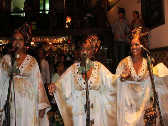 Singers of Jongo da Serrinha, a traditional group of batuque dance in Rio de Janeiro