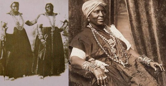 Historic photos of black women dressed in traditional baiana clothing