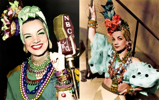 Brazilian singer Carmen Miranda who brought Brazilian culture to an international audience and was popular in the 1930s, 40s and 50s.