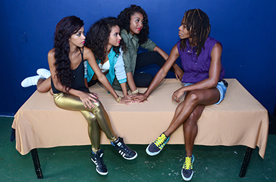 "Pearls Negras: the girls see producer Jeckie Brown as their ""godmother"""