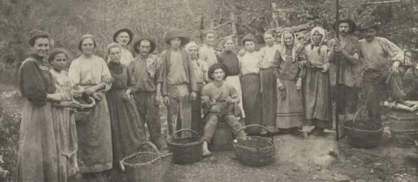 The family of Albino Postali and Rosa Frizera Postali in Caixas do Sul, Rio Grande do Sul (southern Brazil) in 1911. Photo: Primo Postal