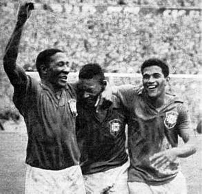 Djalma Santos, Pelé and Garrincha