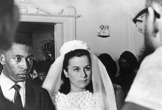 Pelé, seen in photo of wedding to Rosemeri Cholbi