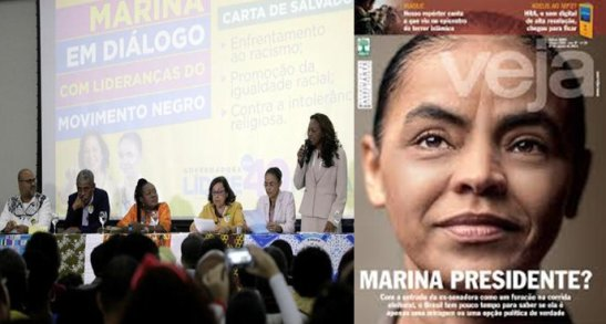 Presidential candidate Marina Silva recently met with black leaders in the state of Bahia