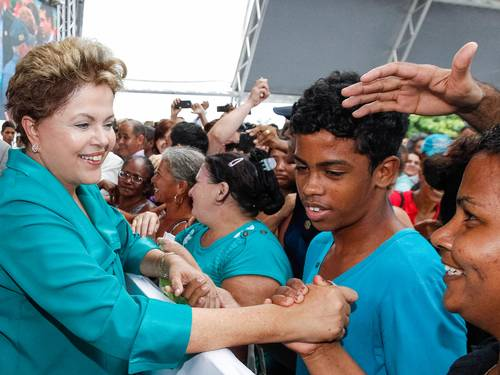 President Dilma Rousseff seeks a second term in office