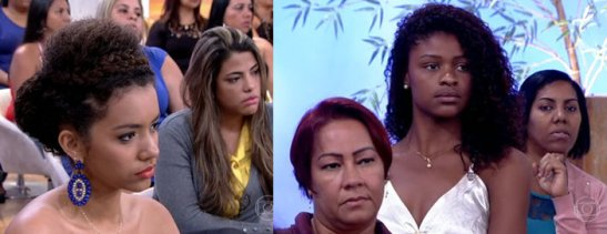 Women in audience of 'Encontro com Fátima Bernardes' look on