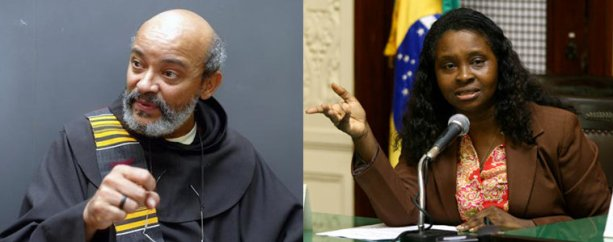 Afro-Brazilian activists Frei David and Jurema Batista