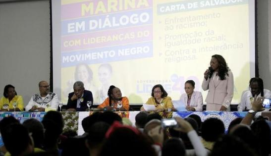 Recently in Salvador, Bahia, Marina Silva met with leaders of the black community to discuss her proposals