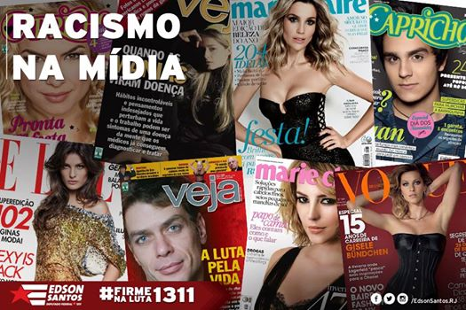 Enforcing this idea of white supremacy and whitening, Brazil's magazine covers and media in general have continuously adhered to this ideology for decades - Cover collage courtesy of Edson Santos