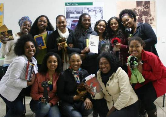 Members of the Juventude Negra Feminina (Black Female Youth) in the first group meeting in winter of last year