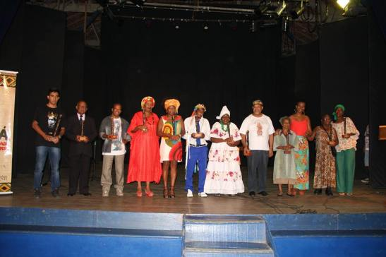 Honorees of the 1st Afro Sabará Award ceremony