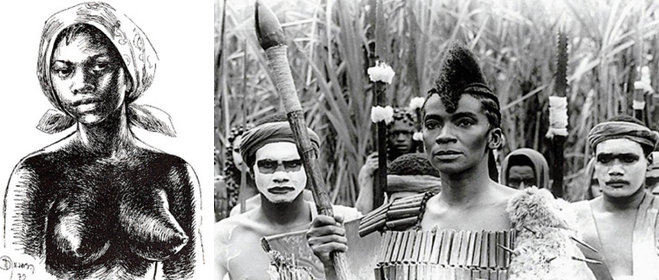 HISTORY: Dandara, the wife of Zumbi, Brazil's greatest black leader, was a revolutionary warrior in her own right